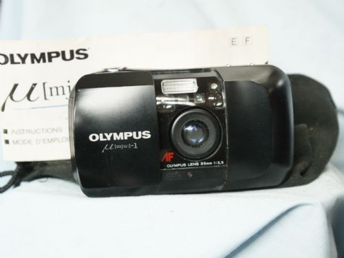 Olympus MJU I Quality Compact Cult 35mm Point and Shoot Camera + Inst  - Tested